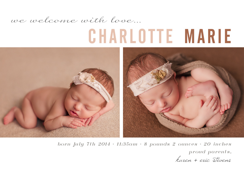 Birth Announcement Card 1 - Front