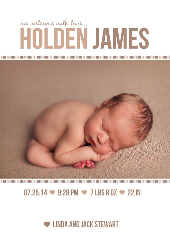 Birth Announcement Card 2 - Front