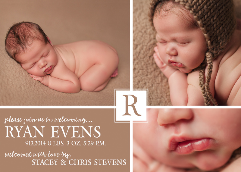 Birth Announcement Card 4 - Front